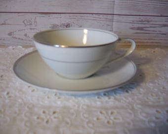 Noritake China Sanford Cup and Saucer - Vintage China Cup and Saucer
