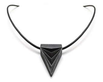 Dagger Necklace, The Vampire Diaries Jewelry, Unisex Necklace, Triangle Pendant, Steel, Geometric Jewelry, Rocker Style