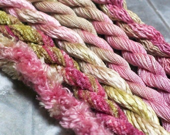 Silk  Embroidery Thread for Needlework, Embroidery, Stumpwork hand dyed in Grace
