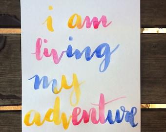 Custom watercolor lettering