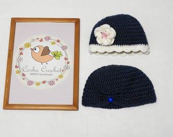 Toddler Kids Crochet Hats for Girl - Children Gift - Free shipping