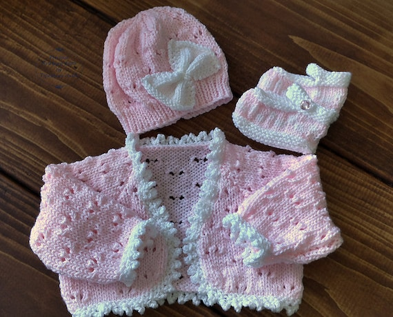 Baby Knitting Pattern Girls Download Pdf Pattern Pdf Knitting