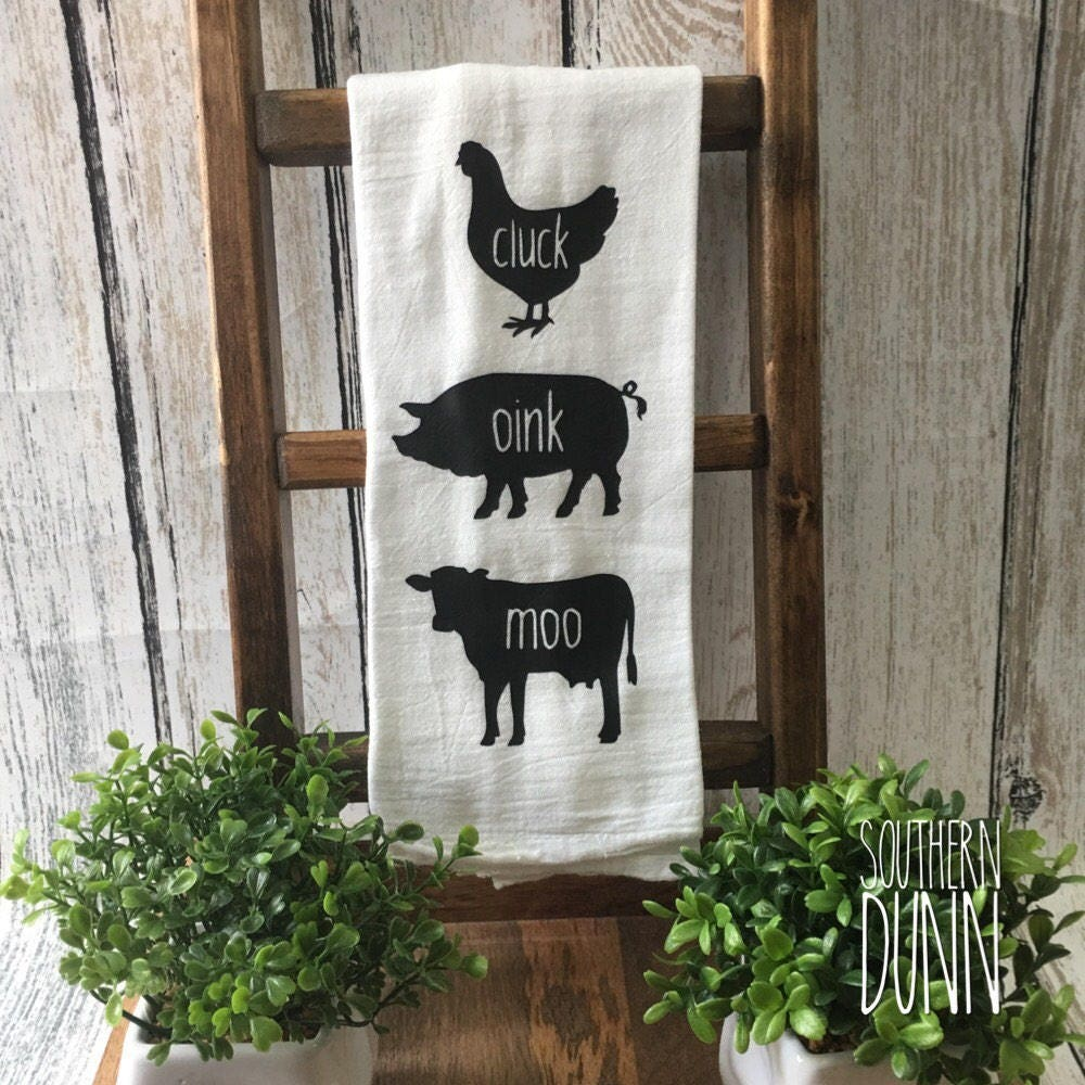 Rae Dunn Inspired Kitchen Towel Farmhouse Towel Farm