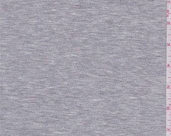 Heather Grey Cotton Jersey Knit, Fabric By The Yard