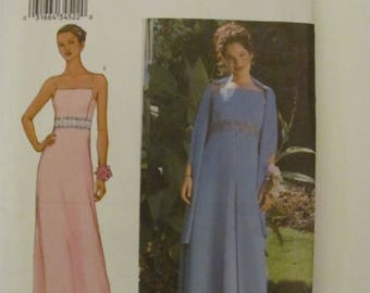 Butterick 3369 Formal Bridesmaid Prom Wedding Dress Sewing Pattern Size 14-16-18 or Plus Size 20-22-24 2002 Arianna