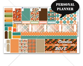 Fall Planner Stickers MONTHLY Planner Kit, Sew Much Crafting Stickers, Monthly Sticker Kit, Personal Planner Kit #SQ00159-Personal