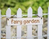 Little Fairy Garden Hanging Sign, Fairy Garden Sign,  Fairy Garden by Jennifer, Small Hanging Sign, Fairy Garden Accessory, Accessories