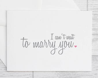 I Can't Wait to Marry You Card - White