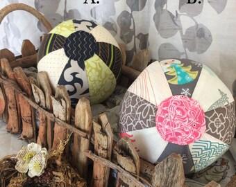 Medium Beach Balls, Fabric beach ball, first  birthday gift, baby shower gift, Easter gift, rattle toy