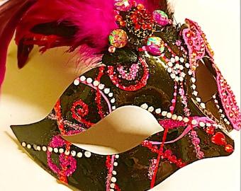 Masquerade mask, Valentines day mask,role playing mask, festival mask, Mardi Gras mask, lovers mask, party mask, halloween mask