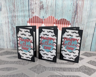Happy Father's Day,  Father's Day Card, Mustache for Father's Day,  Mustache for Father, Mustache Card,