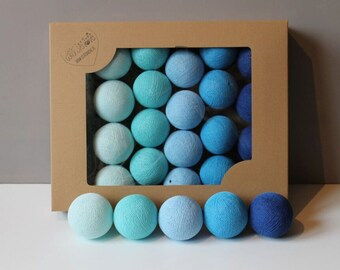 Cotton Balls Blue 10 items