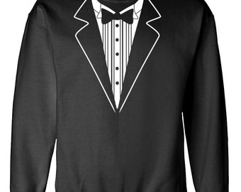 TUXEDO TUX FUNNY wedding sweatshirt sweat shirt
