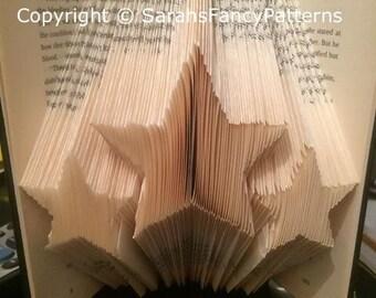 Half Price Sale - 3 Stars - Book Folding PATTERN