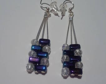 Brick Inspired Drop Earrings