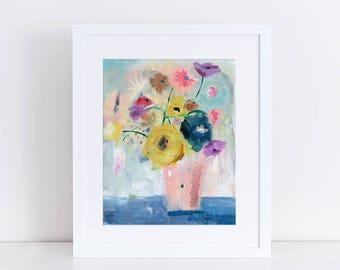 Floral Art Print, Modern Art, Flower Bouquet, Abstract Art Print, Contemporary Art Print, Garden Floral, Abstract Art, Bohemian