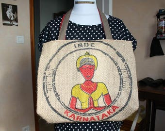 Upcycled burlap bag '!