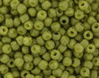 TOHO Japanese Seed Beads - Round 11/0 : 2601F Semi Glazed - Olive - choose your gram weight