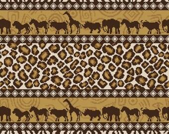 "Cross stitch pattern ""Pillow - Africa"""