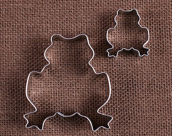 Frog Cookie Cutter Set, Mini Frog Cookie Cutter, Froggy Cookie Cutters, Metal Cookie Cutters, Frog Biscuit Cutter, Frog Pastry Cutters