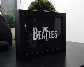 The Beatles cross stitch finished frame