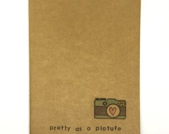 Notebook Pretty as a Picture with Camera Stamp