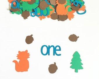 Woodland Confetti - Woodland Baby Shower - Woodland Birthday Party - Fox Birthday Confetti - Forest Birthday Confetti - Table Confetti