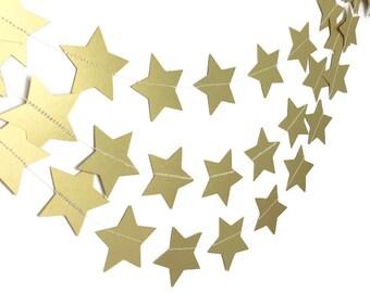 Party Decorations - Birthday Decorations - 1st Birthday Party - Gold Star Garland - Star Garland - Wedding Garland - Bridal Shower - 10 Feet