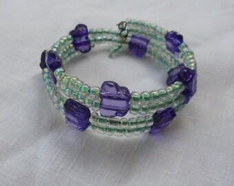 Green and Purple Butterfly Bracelet