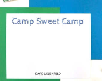 Personalized Stationery Set, Camp Sweet Camp, Kids Camp Stationery, Summer Camp Updates