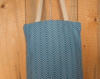Bag bag blue duck, white pattern