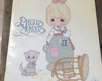 """Precious Moments Cross-Stitch/ Embroidery Pattern Book """"The Lord Giveth"""""""