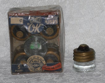 Glass Plug Fuses Eagle Ok & Major Vintage Appliance Electrical Home Maintenance