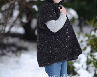 Crochet PATTERN-The Sevryn Sweater (2, 3/4, 5/7, 8/10, 11/13, 14/16, adult S, adult M, adult L, adult xL, adult xxL sizes)