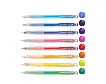 8-Color Full Set - Pilot Color ENO HCR-197 Assorted Colors 0.7 mm Mechanical Pencils