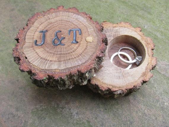Oak ring box ring bearer box engagement ring box wedding like this item junglespirit Images