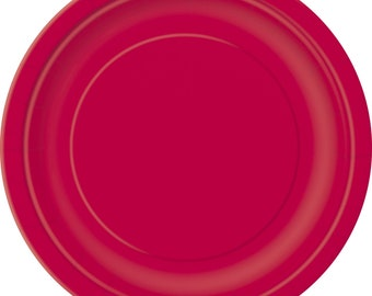 Ruby Red 9 Round Paper Plates 8pk  sc 1 st  Etsy & Ruby red plates | Etsy