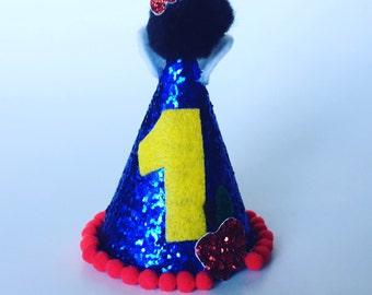 Snow White Birthday - Snow White party hat - mini party hat - Snow White birthday hat - Snow White