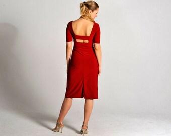MALENA berry tango dress, S-L