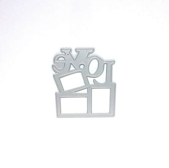 Worded LOVE Topped Frame Metal Cutting Die, Square Frames topped ...