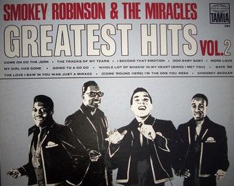 "SMOKEY ROBINSON & The Miracles Greatest Hits Vol 2 1967 Vintage Vinyl Motown Tamla Original Press ""Going To A Go-Go"" Detroit Sound Soul"