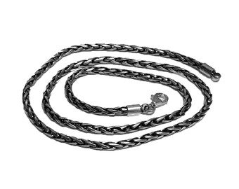 3mm Sterling Silver Chain, Sterling Silver Links Chain, Mens Silver Necklace, Silver Chain Necklace, Bali Silver Chain, Silver Necklace Men
