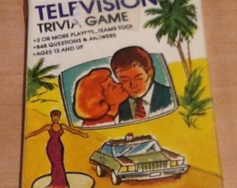 Vintage 1984 Television Trivia Game Series 2. Pocket trivia by Hoyle Products. 53 cards with questions and answers on each side. Ages 12+