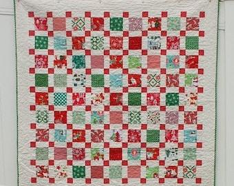 PATTERN - Retro Christmas Quilt Pattern