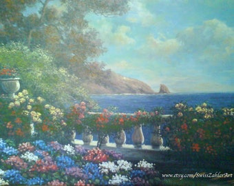 Spring Scene at the Balcony - on sale on June