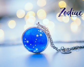 pisces necklace,Astrology necklace, Constellation Necklace, Zodiac Jewelry,birthday gift for women,celestial jewelry Zodiac sign necklace