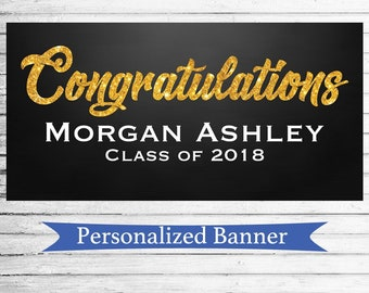 Class of 2018 Party Personalized Graduation Party Banner | Grad Party | Indoor Outdoor Banner | Custom Banner | Graduation | Class of 2018