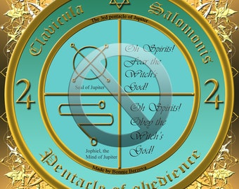 The 3rd pentacle of Jupiter from the Key of Solomon the King