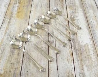 Sterling Silver Ice Cream Forks by Manchester Sterling, Set of Seven