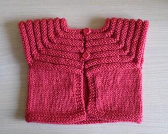sleeveless bolero vest size 1/3 months